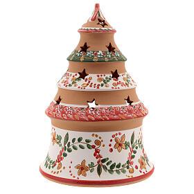 Abeto navideño Natividad terracota country rojo 20 cm s4