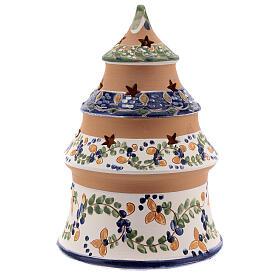 Albero terracotta Natività dipinta blu Deruta 15 cm s4