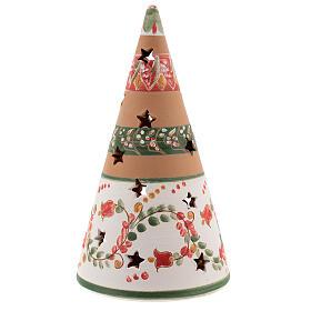Christmas cone tree nativity terracotta Deruta 20 cm red s4