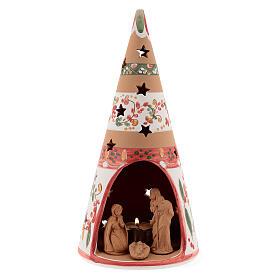 Nativity cone country natural terracotta 25 cm Deruta s1