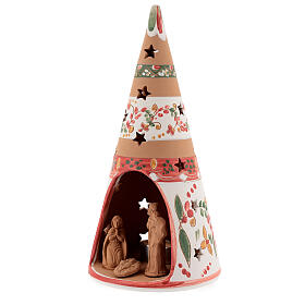 Nativity cone country natural terracotta 25 cm Deruta s2