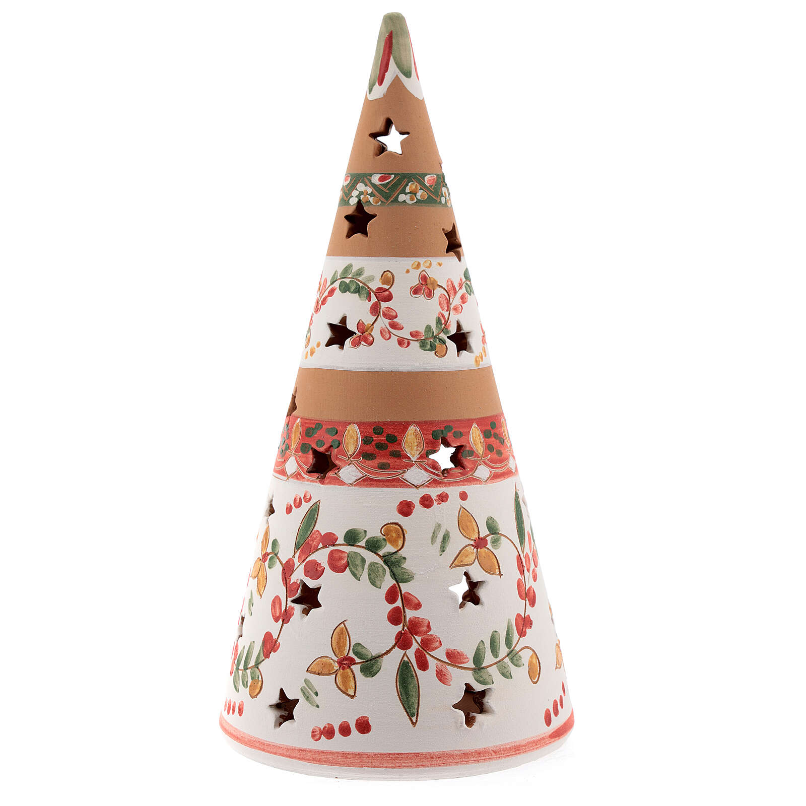 Christmas cone Nativity country natural terracotta 25 cm Deruta 4