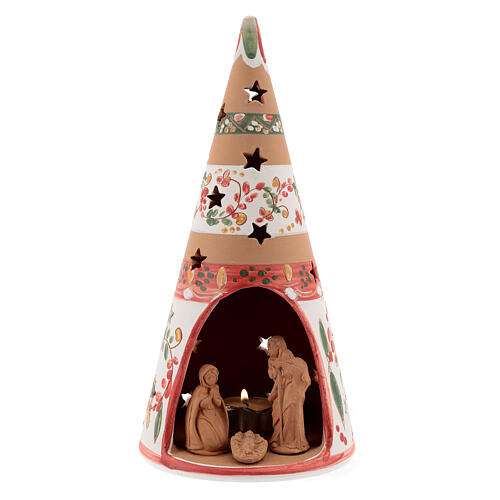 Christmas cone Nativity country natural terracotta 25 cm Deruta 1