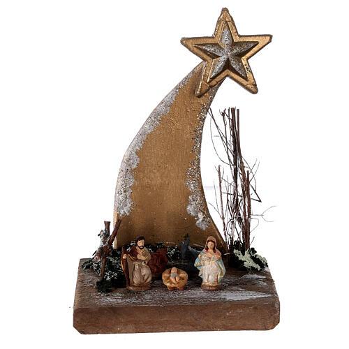 Star nativity scene painted terracotta statues 3 cm Deruta 20x10x10 1