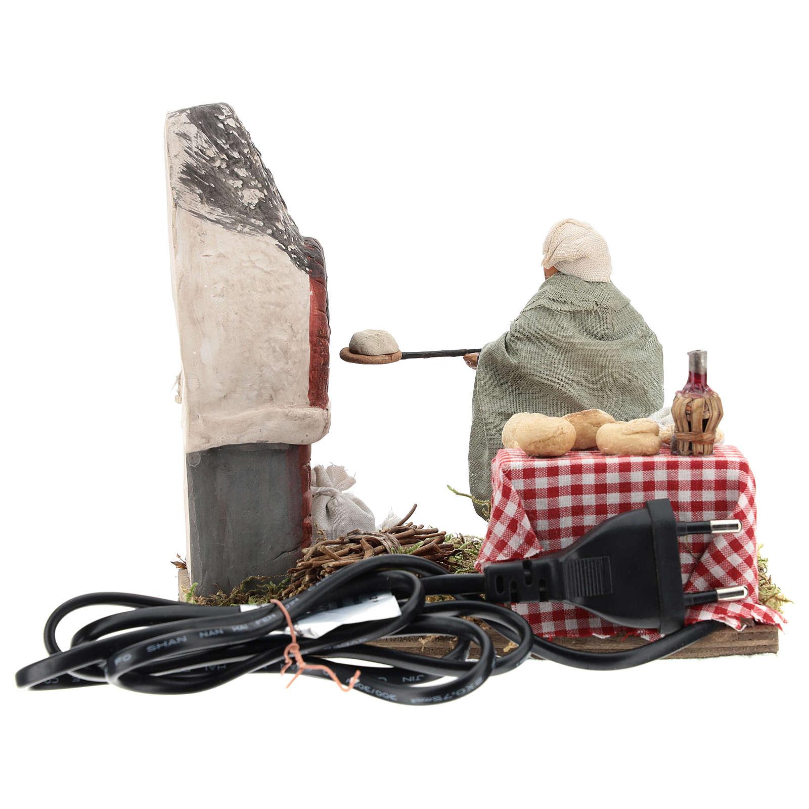 Animated nativity scene, baker setting 10 cm 4