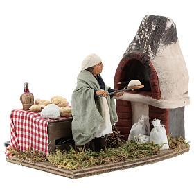 Animated nativity scene, baker setting 10 cm s2