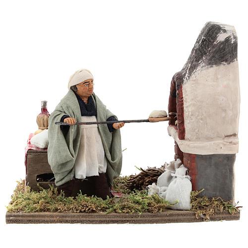 Animated nativity scene, baker setting 10 cm 1