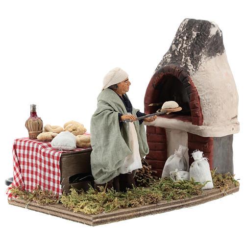 Animated nativity scene, baker setting 10 cm 2