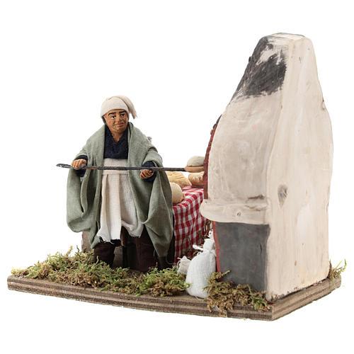 Animated nativity scene, baker setting 10 cm 3