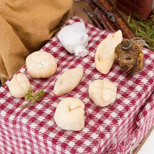 Santon animé boulanger crèche napolitaine 10 cm 4