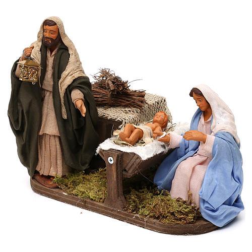 Sainte Famille animée crèche 12 cm 2