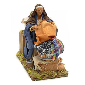 Animated nativity scene,  laudress at work12 cm s1