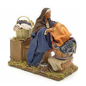 Animated nativity scene,  laudress at work12 cm s2