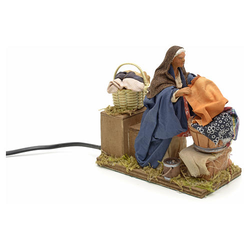 Animated nativity scene,  laudress at work12 cm 5