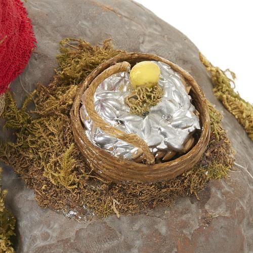 Pêcheur animé sur rocher crèche 12 cm 12