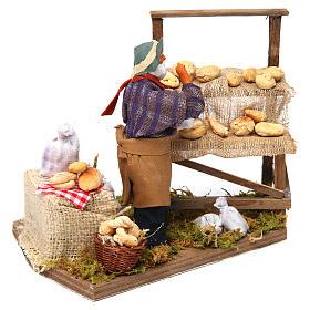 Animated nativity scene, bread seller 12 cm s3