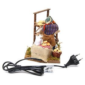 Animated nativity scene, bread seller 12 cm s4