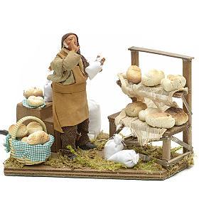 Movimento presepe venditore di pane 12 cm s1