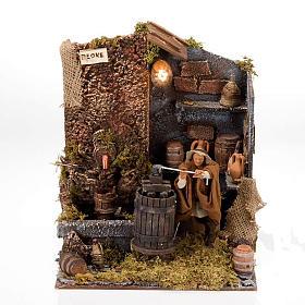 Animated nativity scene, press scene 12 cm s1