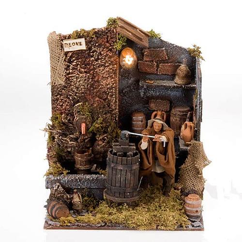 Animated nativity scene, press scene 12 cm 1