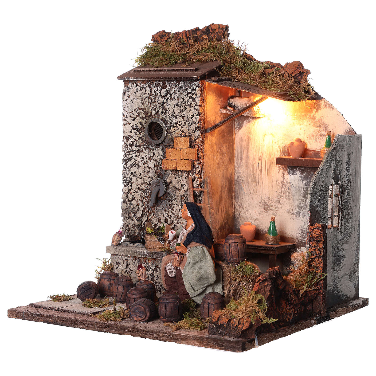 Animated nativity scene,  drunkard scene 12 cm 4