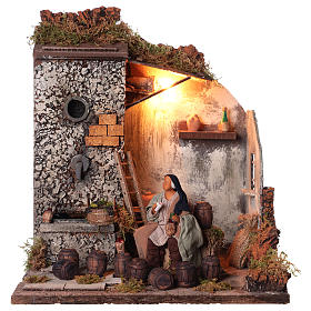 Animated nativity scene,  drunkard scene 12 cm s1