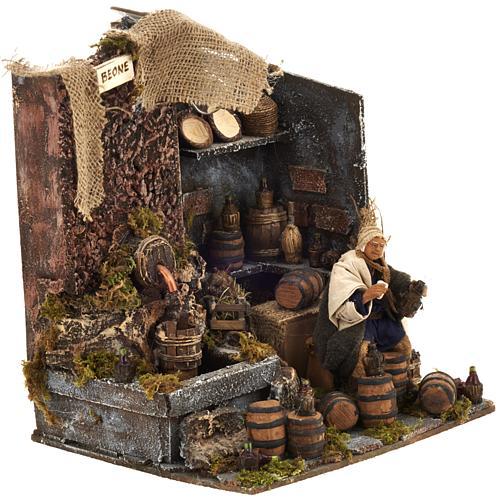 Animated nativity scene,  drunkard scene 12 cm 2