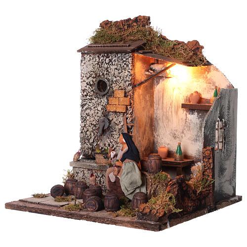 Animated nativity scene,  drunkard scene 12 cm 3