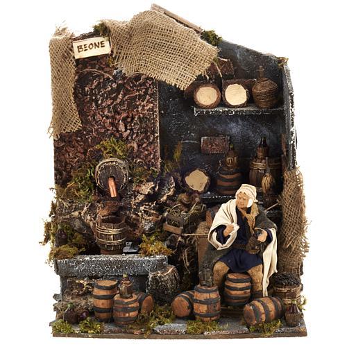 Animated nativity scene,  drunkard scene 12 cm 1