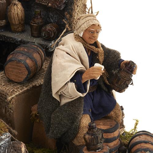 Animated nativity scene,  drunkard scene 12 cm 5