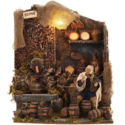 Animated nativity scene,  drunkard scene 12 cm 8