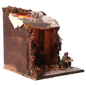 Animated nativity scene, oil mill scene 12 cm s4