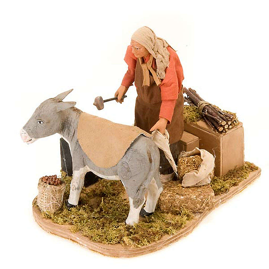 Animated nativity scene figurine, farrier 14 cm 4