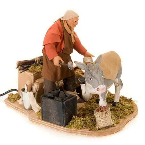 Animated nativity scene figurine, farrier 14 cm 2