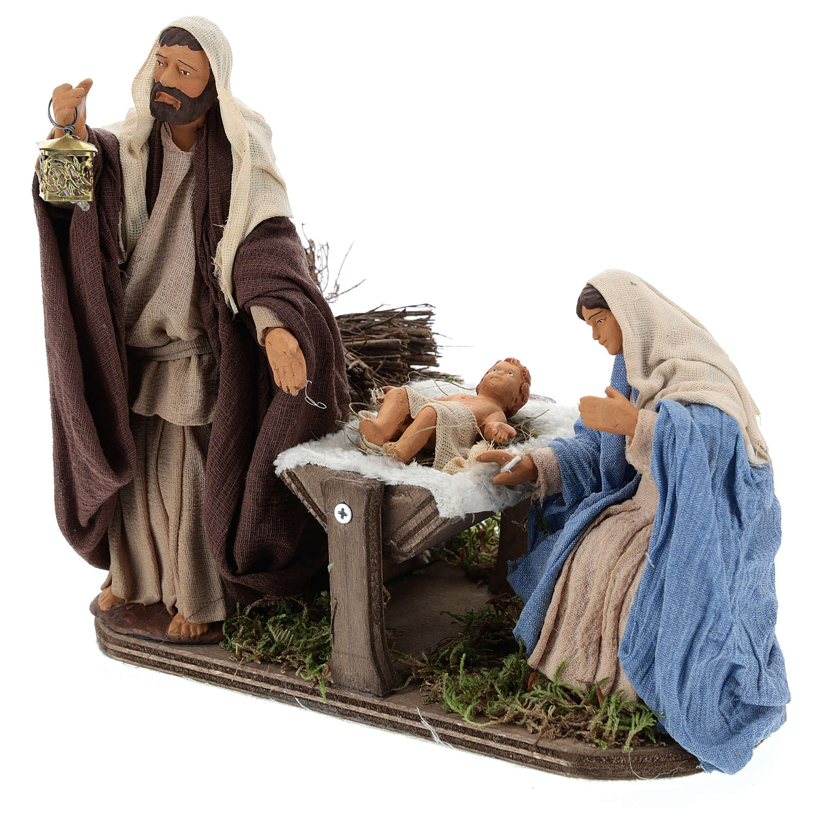 Animated Neapolitan Nativity set, 14 cm 4