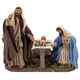 Neapolitan Nativity Scene: Animated Neapolitan Nativity set, 14 cm