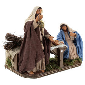 Animated Neapolitan Nativity set, 14 cm s4