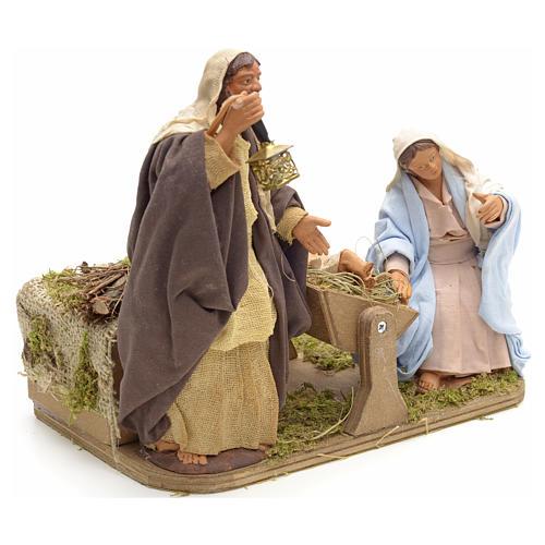 Sainte Famille animée crèche napolitaine 14 cm 2