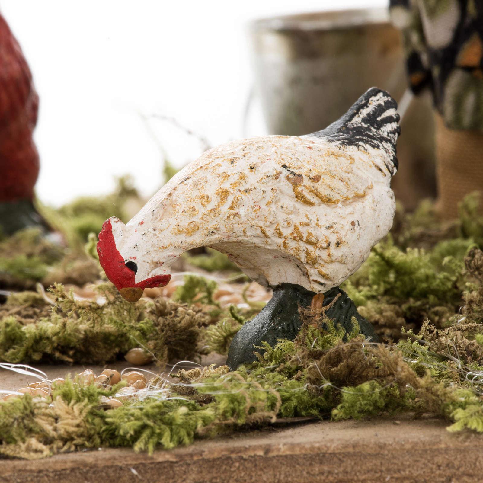 Bergère animée avec canards crèche napolita 4