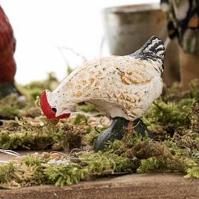 Bergère animée avec canards crèche napolita s4