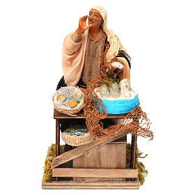 Animated nativity scene, fishmonger 14 cm s1