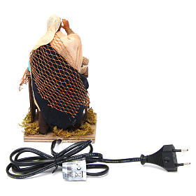 Animated nativity scene, fishmonger 14 cm s4