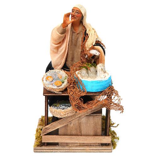 Animated nativity scene, fishmonger 14 cm 1