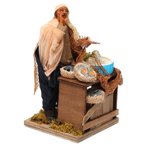 Animated nativity scene, fishmonger 14 cm 3