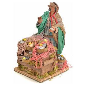 Animated nativity scene, fishmonger 14 cm s15