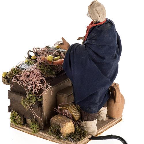 Animated nativity scene, fishmonger 14 cm 12