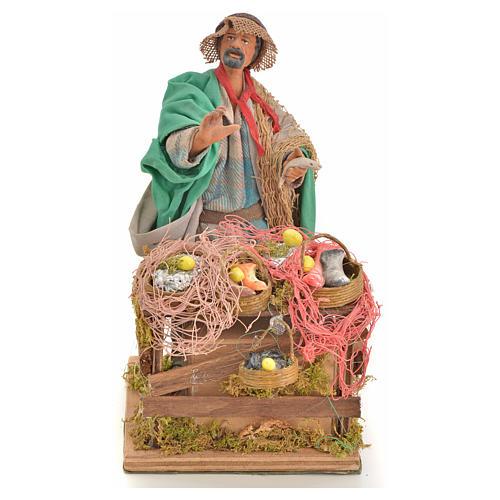 Animated nativity scene, fishmonger 14 cm 14