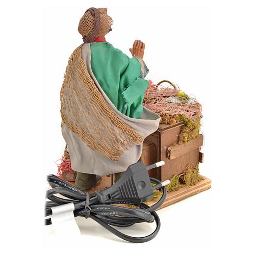 Animated nativity scene, fishmonger 14 cm 17