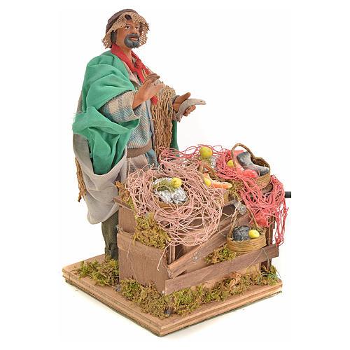 Animated nativity scene, fishmonger 14 cm 6