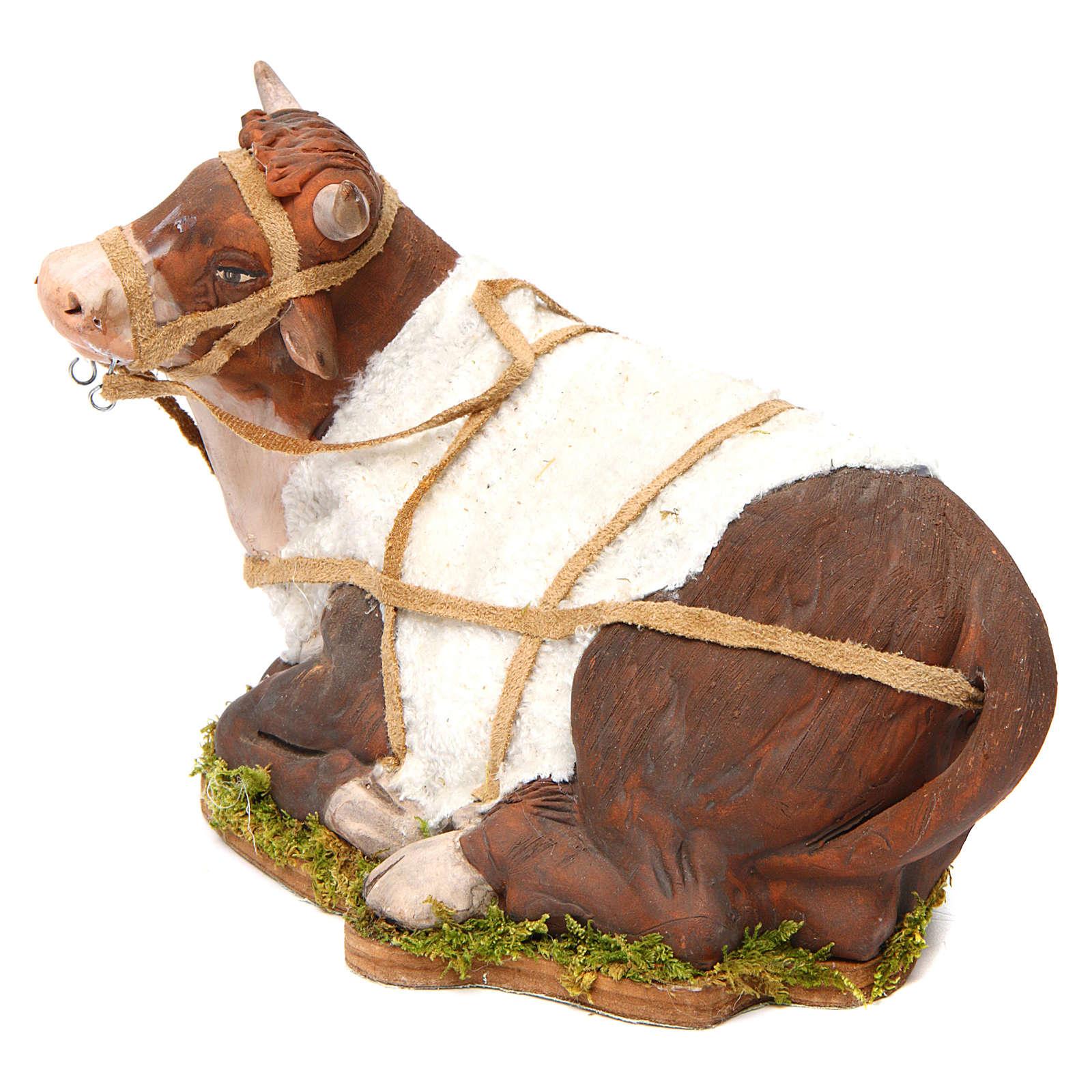 Animated Nativity scene figurine, Ox 24 cm 4